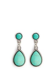 Philippe Audibert 'Crees' Stone Teardrop Earrings Metallic Green