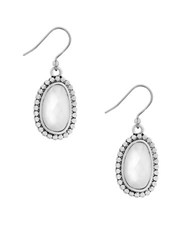 Lucky Brand California Gardens Faux Mother Of Pearl Drop Earrings Silver