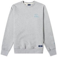 Bleu De Paname Embroidered Logo Crew Sweat Grey