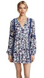 Ella Moss Folktale Floral Tunic Cover Up Blue