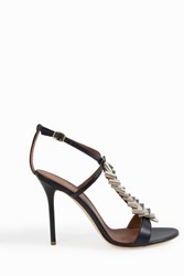 Malone Souliers Women S Julee Strappy Standals Boutique1 Navy Gold