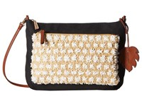 Tommy Bahama Koki Beach Crossbody Black White Cross Body Handbags