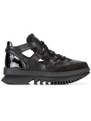Camper Lace Up Boots Black