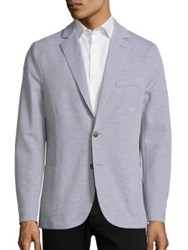 Eleventy Stock Jersey Blazer Light Grey