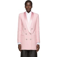 Balmain Pink Crepe Jacket Dress