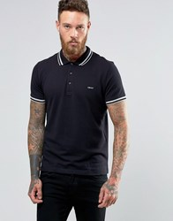 Dkny Tipped Polo Shirt Black