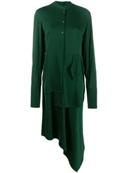 Christian Wijnants Asymmetric Shirt Dress Green