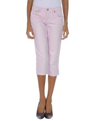 Frankie Morello Denim Capris Light Pink