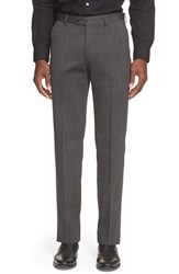 Men's John Varvatos Star Usa Flat Front Solid Wool Trousers