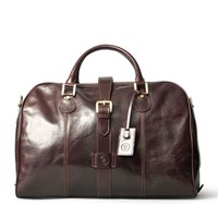 Maxwell Scott Bags Italian Leather Cabin Bag Chocolate Brown