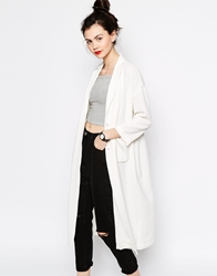 Monki Duster Coat White