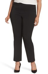 Vince Camuto Plus Size Women's Stretch Twill Seamed Pants Rich Black