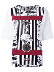 I'm Isola Marras Multi Print T Shirt White