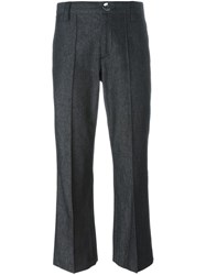 Marc Jacobs 'Bowie' Cropped Denim Trousers Black