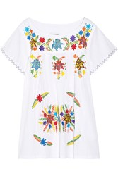 Sensi Studio Embroidered Cotton Mini Dress White