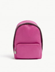 Stella Mccartney Falabella Faux Suede Mini Backpack Hot Pink