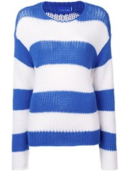 Zadig And Voltaire Chunky Knit Striped Jumper Blue