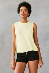 Silence And Noise Washed Out Muscle Tee Yellow