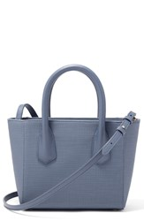 Dagne Dover Signature Petite Coated Canvas Tote Blue Ash Blue