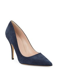 Kate Spade Licorice Point Toe Suede Pumps Navy Blue