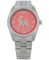 Game Time Miami Marlins Elite Series Watch Silver