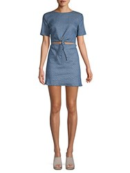 Lucca Couture Kennedi Front Tie Dress Ocean Blue