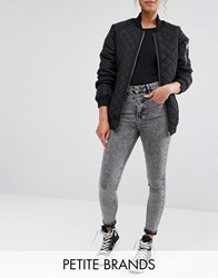 New Look Petite Acid Wash Highwaisted Jean Grey
