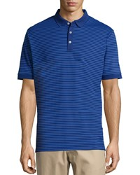 Callaway Short Sleeve Thin Stripe Polo Shirt Blueprint