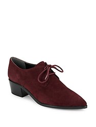 Marc Fisher Mletta Point Toe Leather Oxfords Stone