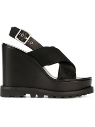 Marc By Marc Jacobs 'Street Stomp Irving Wedge' Sandals Black