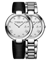 Raymond Weil Shine Diamonds And Stainless Steel Watch And Interchangeable Straps Set Black
