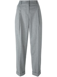 Blugirl Cropped Tailored Trousers Grey
