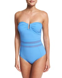 Shan Do You Think I'm Sexy Bandeau One Piece Swimsuit Blue