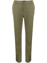 Current Elliott Tapered Leg Cropped Trousers Green