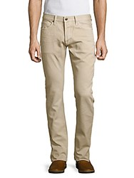 Tom Ford Straight Fit Cotton Pants Beige