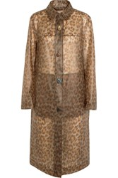 Christopher Kane Leopard Print Rubberized Raincoat Leopard Print