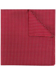 Emporio Armani Patterned Pocket Square Red