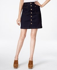 Inc International Concepts Patch Pocket Denim Skirt Only At Macy's
