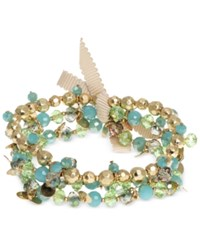 Lonna And Lilly Gold Tone Blue Green Shaky Stretch Bracelet