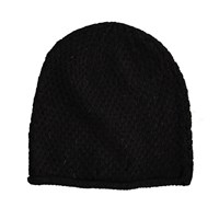 Lowie Rolled Hem Cashmere Blend Beanie In Black
