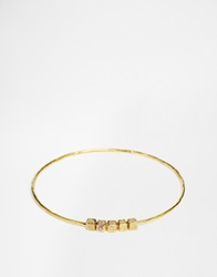 Mirabelle Bangle With Beads Brass