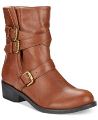Styleandco. Style And Co. Baxten Booties Only At Macy's Women's Shoes Chestnut