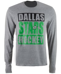 47 Brand '47 Men's Dallas Stars Stacked Club Long Sleeve T Shirt Gray
