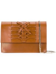 Casadei Lattice Shoulder Bag Women Nappa Leather Kid Leather One Size Brown