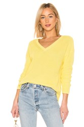 525 America Emma V Neck Sweater Yellow