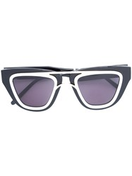 Smoke X Mirrors Contrast Trim Sunglasses Black