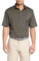 Bobby Jones Men's 'Feed Stripe Xh20' Stretch Golf Polo Safari