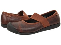 Keen Sienna Mj Leather Tortoise Shell Pebbled Women's Maryjane Shoes Brown