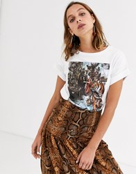 Soaked In Luxury Tiger Print T Shirt White