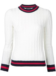 Loveless Cable Knit Jumper White